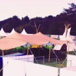 sauna onder stretchtent, Dour festival