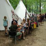 Kids indianendorp huren, dromenvangers maken in de tipi tent. indianententen met kinder activiteiten