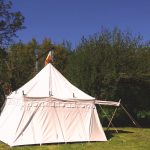 Kasteel tent huren, middeleeuwse tent huren , landsknecht riddertent 4 x 4 meter