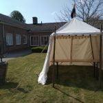 kasteeltent huren, middeleeuwse tent huren, landsknecht 3 x 3 meter