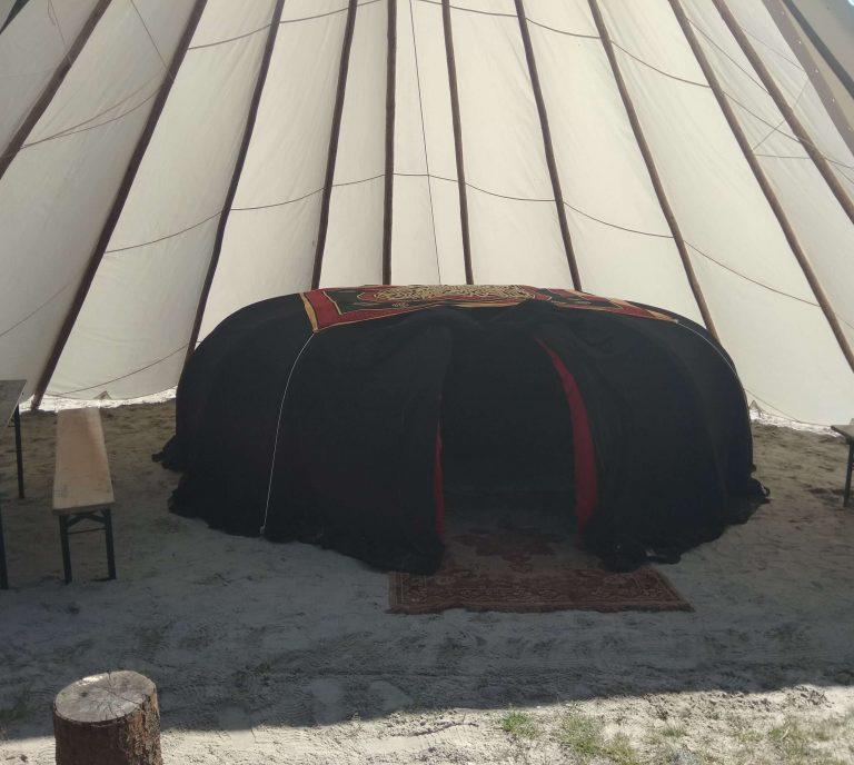 Sweatlodge op festivals, zweethut op campings