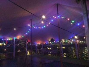 Stretchtent met verlichting huren, Veronicaboot amsterdam