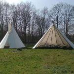 Feest castricum, verhuur en verkoop van open tipi en gesloten tipi tenten
