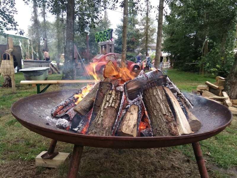 Vuurschaal huren, vuurschaal op camping buitenland