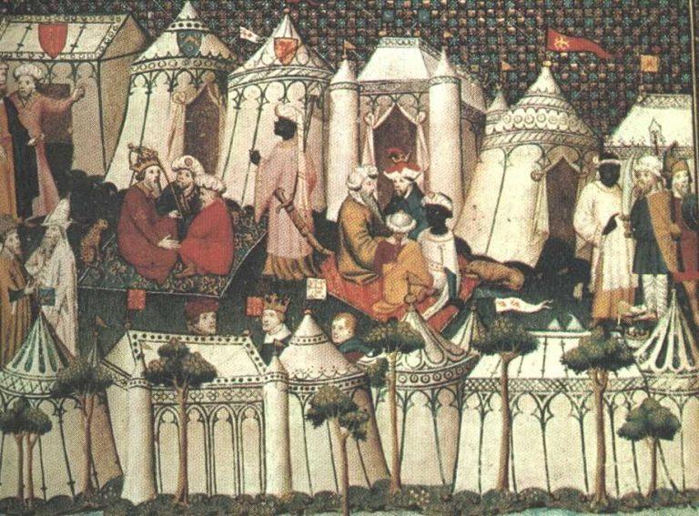 Merlin kasteeltenten op schilderij