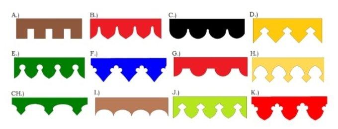 kleuren randen en kantelen voor marktkraam kopen, beursstand