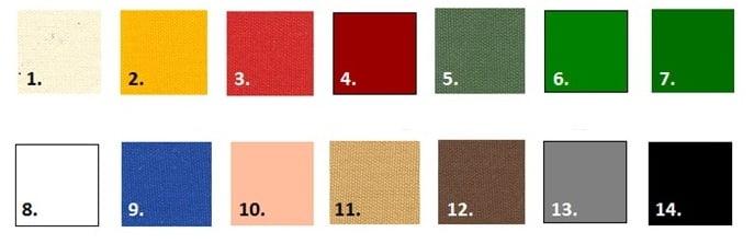 Beschikbare kleuren marktkraam kopen, beursstand kopen